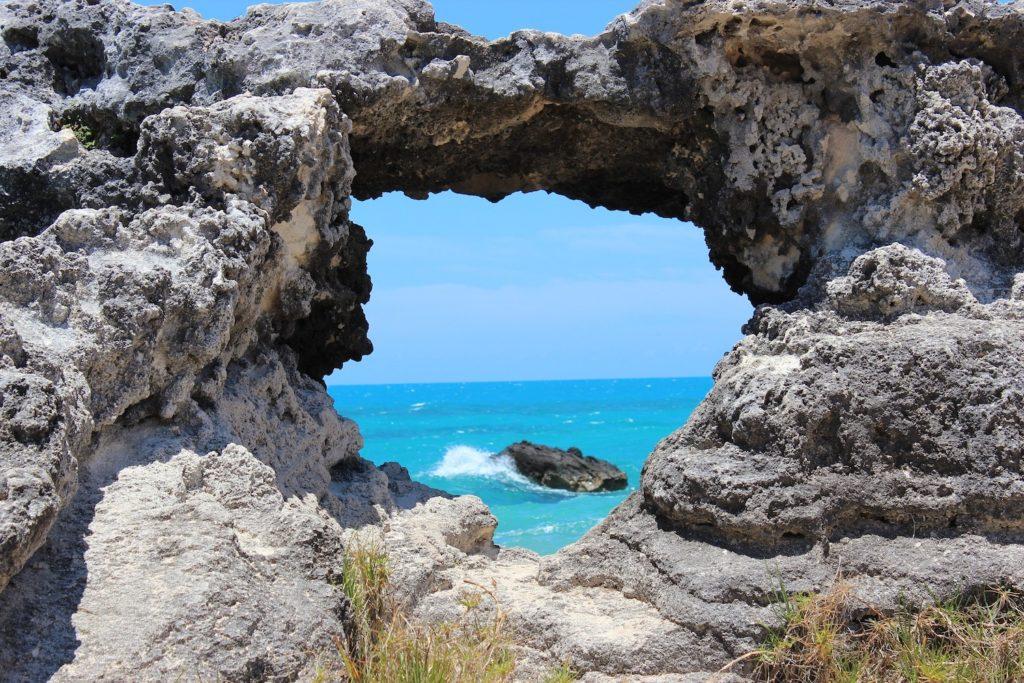 bermuda rock view on honeymoon