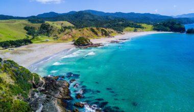 beach for a new zealand honeymoon